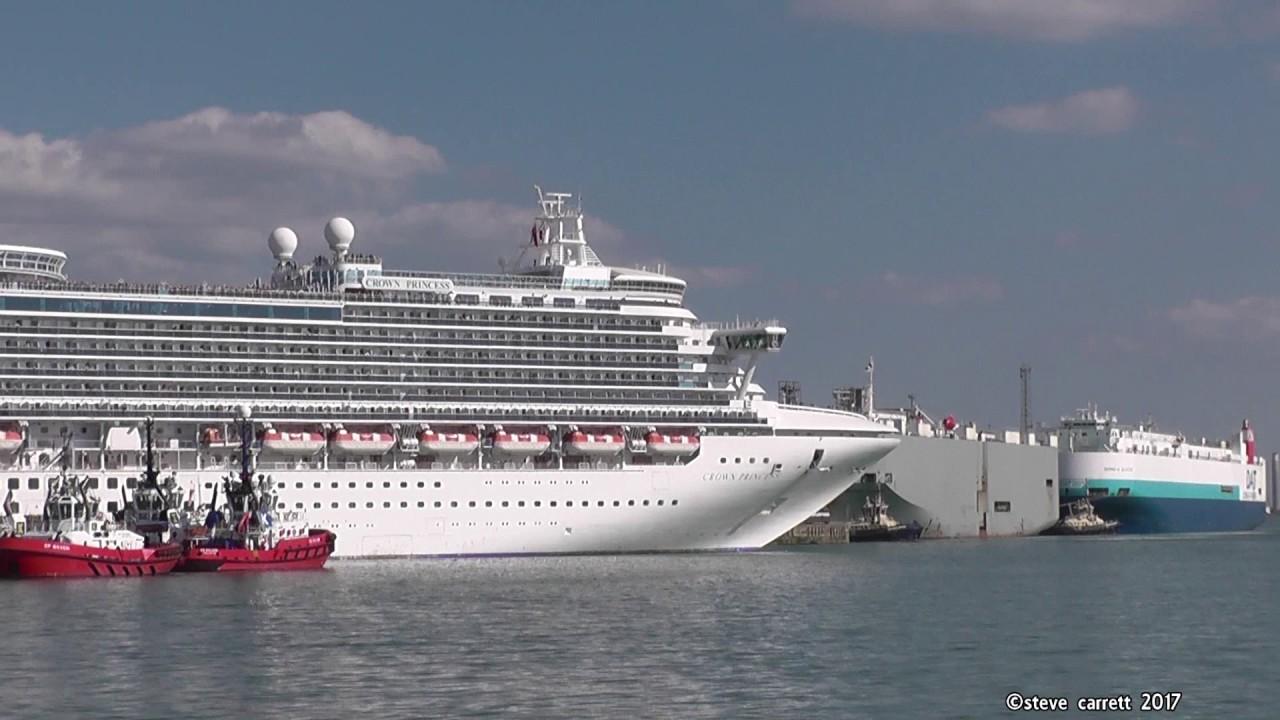 Princess Cruises Crown Princess Sailaway Southampton Docks