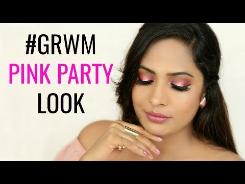 #GRWM Pink Party Look - Indian Makeup Tutorial | ShrutiArjunAnand
