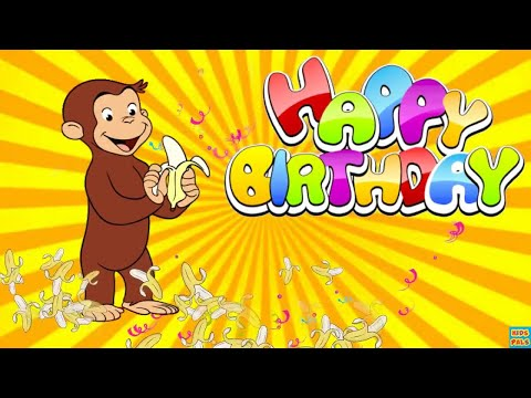 Curious George Funny Happy Birthday Song|Nursery rhymes for kids