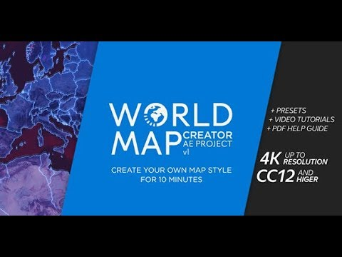 World map creator after effects template youtube world map creator after effects template gumiabroncs Image collections