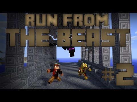 [Minecraft] Run from the Beast avec DarkHeaven  Derrière toi