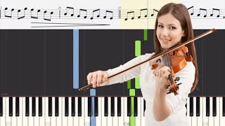 Gambar cover Canon in D - Johann Pachelbel - Violin and Piano Tutorials with Sheet Music