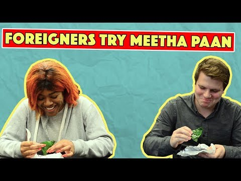 Foreigners Try Meetha Paan | MangoBaaz