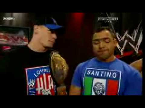 Santino Marella Backstage With John Cena