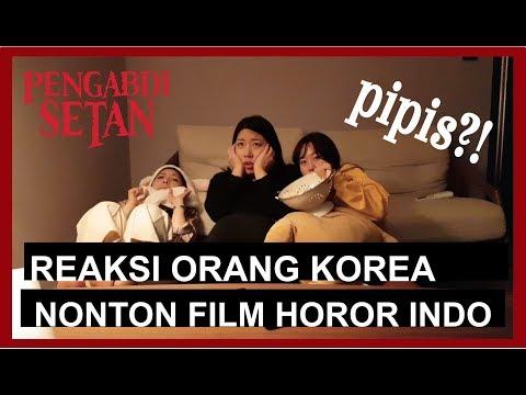 [REAL!!] REAKSI ORANG KOREA NONTON FILM HOROR INDONESIA!PENGABDI SETAN! pipis?!!사탄의 숭배자 후기!!!!