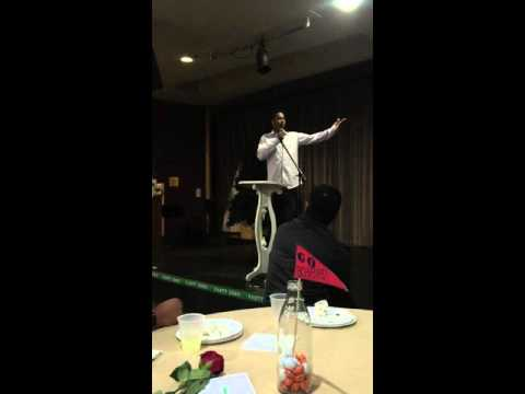 Keynote Speaker Collin Johnson,  Achiever Christian School Flag Football Banquet