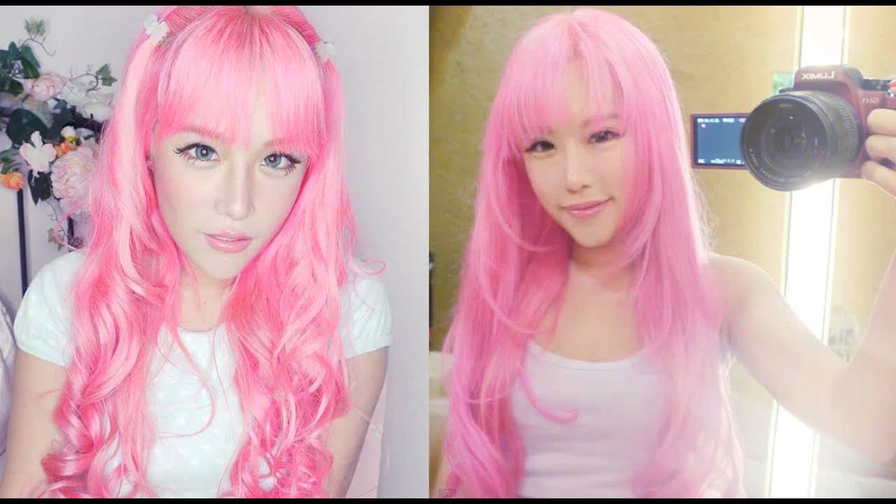 dyeing hair pink