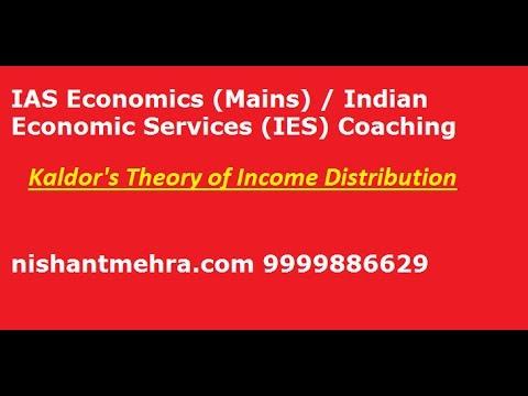 IES IAS Economics Mains Kaldor Model Of Income Distribution