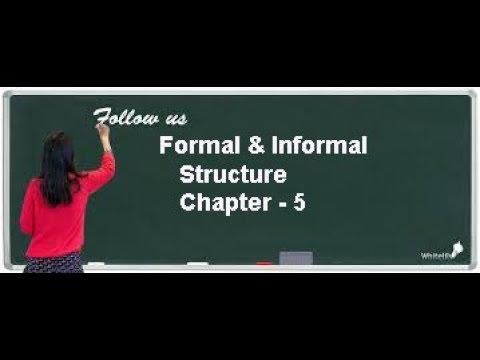 Formal & Informal Organisational Structure Class 12 Business Chapter 5