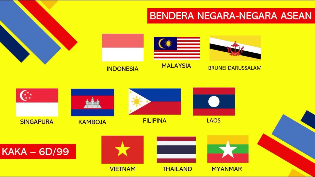 Kelas 6 Tema 1 Muatan Ips Materi Bendera Negara Negara Asean Youtube
