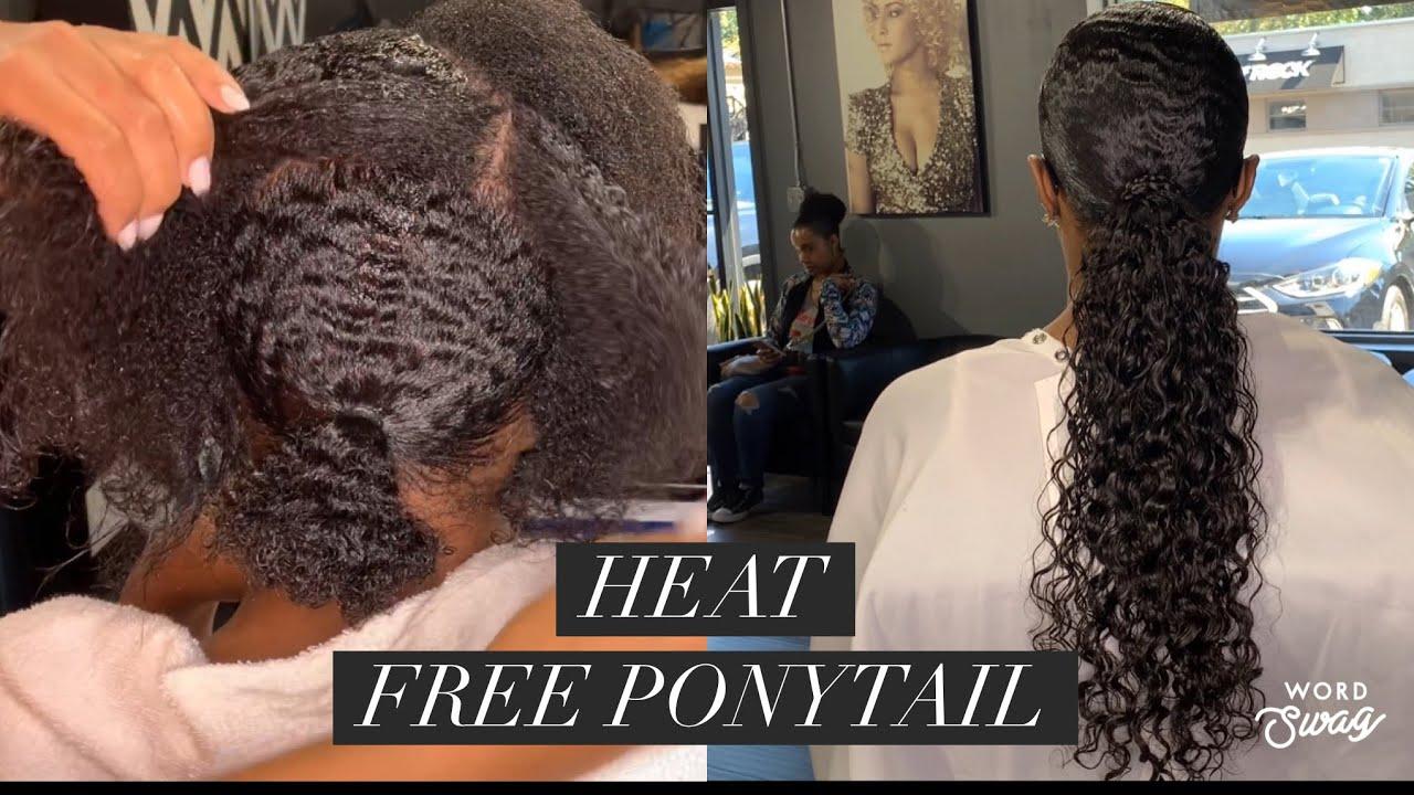 Heat Free Ponytail