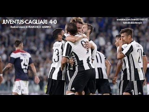 JUVENTUS-CAGLIARI 4-0 - Radiocronaca di Francesco Marino (21/9/2016) da Rai Radio 1
