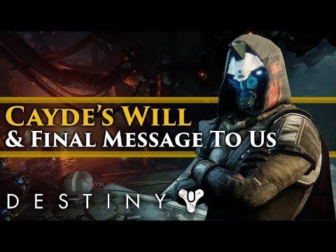 Destiny 2 Forsaken Lore - Cayde's last Will and the last message he left for us!