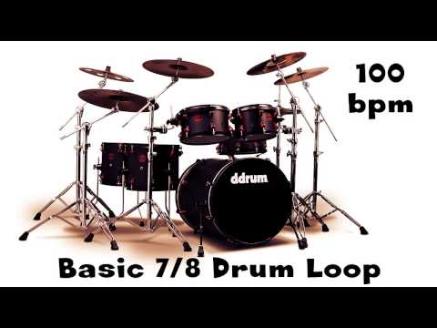 Basic 7/8 Drum Loop 100 Bpm