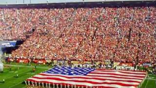 Huey Lewis & The News sing the National Anthem at Candlestick Park ...