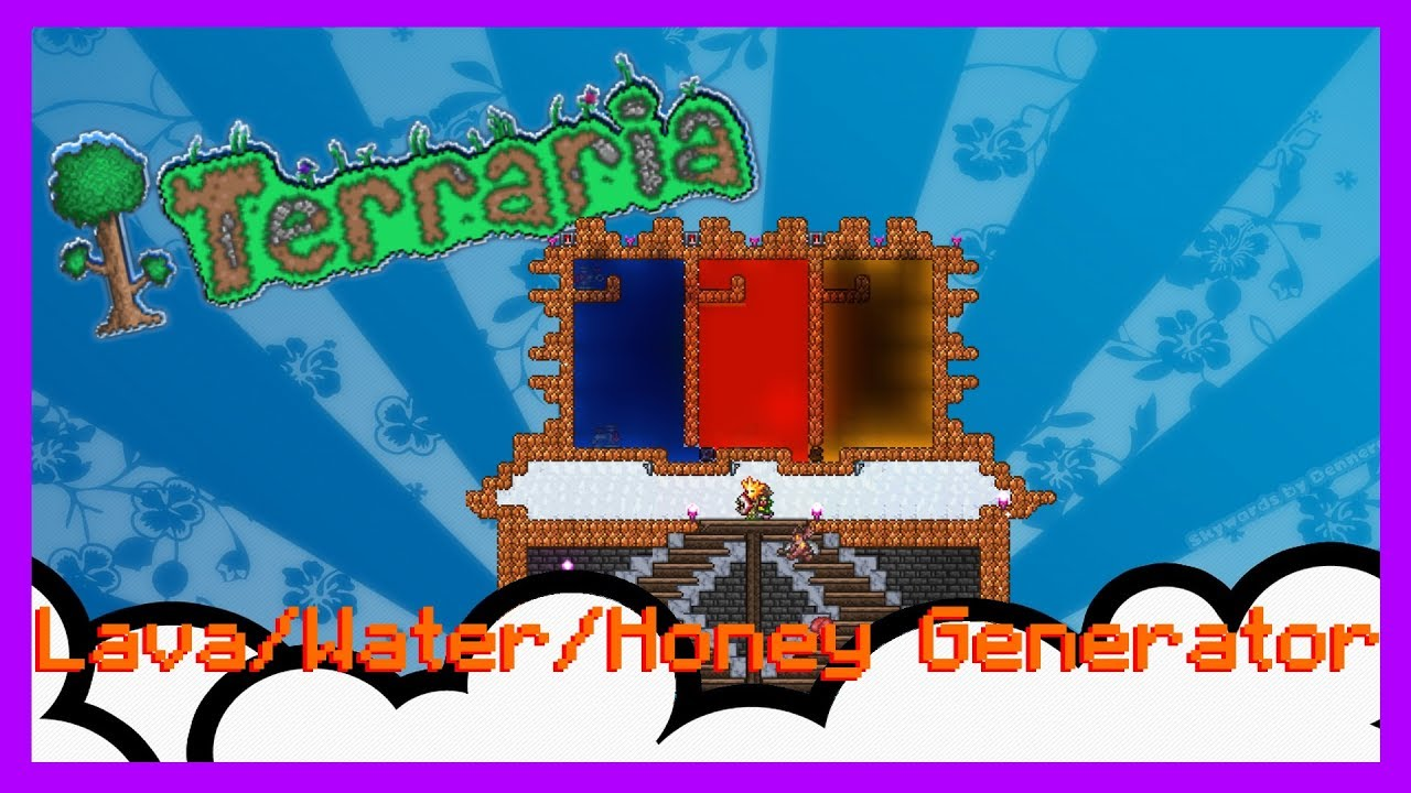 terraria how to make a lava generator