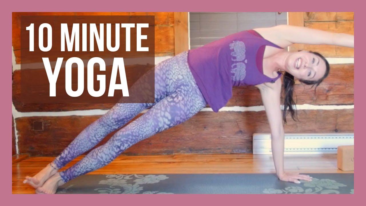 10 Min Morning Yoga Stretch For Beginners Energy Boost Yoga Youtube