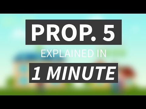 California Proposition 5, Portable Real Estate Tax Break, Explained In Less Than 1 Minute