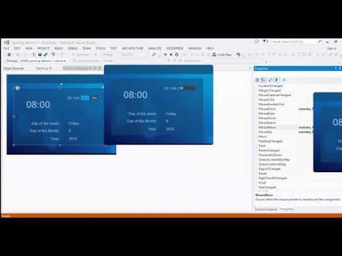 C# Flat transparent UI using bunifu controlls , Download or