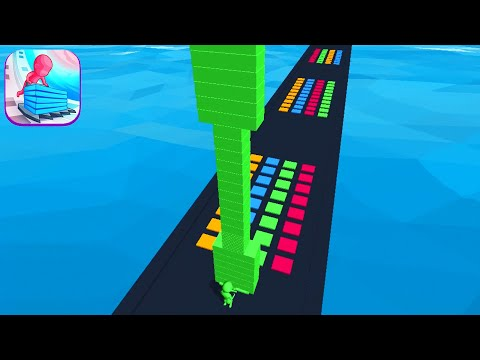 STACK COLORS! game MAX LEVEL 🌈🤑💙 Gameplay All Levels Walkthrough iOS, Android New Game Mobile Hyper