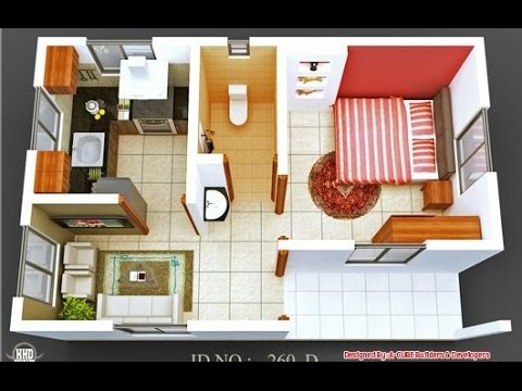 Beau 15 One Bedroom Home Design With Floor Plan!1 Bedroom Apartment Floor Plans