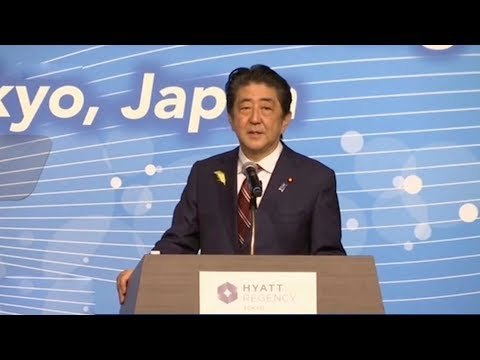 Abe calls for free, rule-based, fair market in the Asia-Pacific region