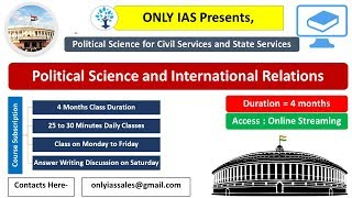 Demo: Political Science and International Relations for UPSC and state service Commissions