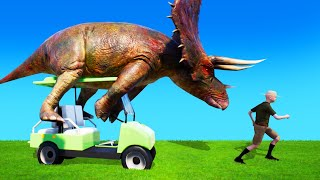 DINOSAURS STOLE My CAR! (Zoo Simulator)