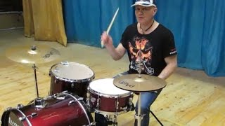 Уроки игры на ударных. Обучение игре на барабанах для начинающих. Урок 1