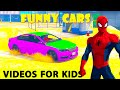Color Children SPIDERMAN Cartoon CARS for Kids with Songs Nursery Rhymes