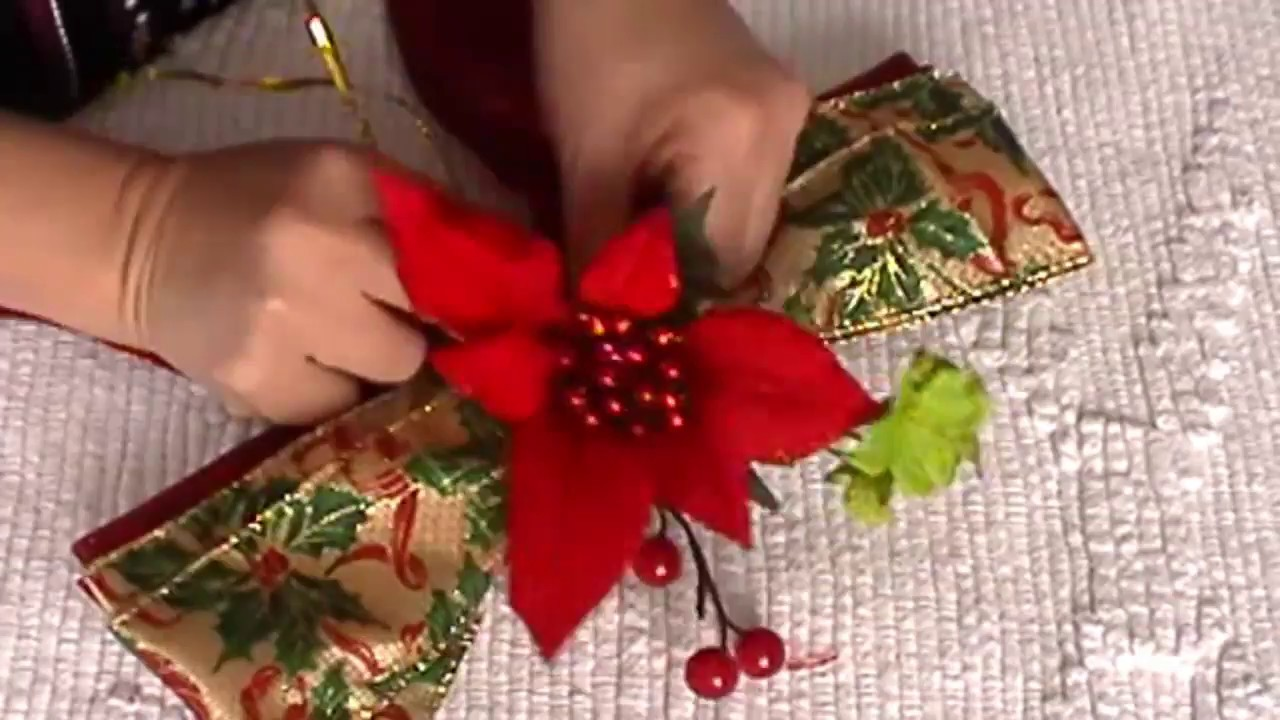 Lazo navide o adornos navide os lazo para rbol de - Cinta arbol navidad ...