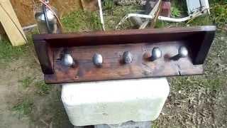 Railroad Spike Coat Rack