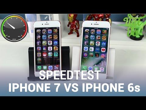 Vật Vờ| Speedtest iPhone 7 vs iPhone 6s: Apple A10 Fusion vs A9