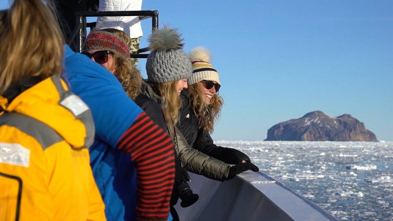 【動画】感動の瞬間 南極到達の風景