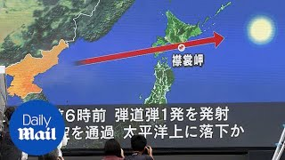 North Korea's estimated missile ranges - Daily Mail