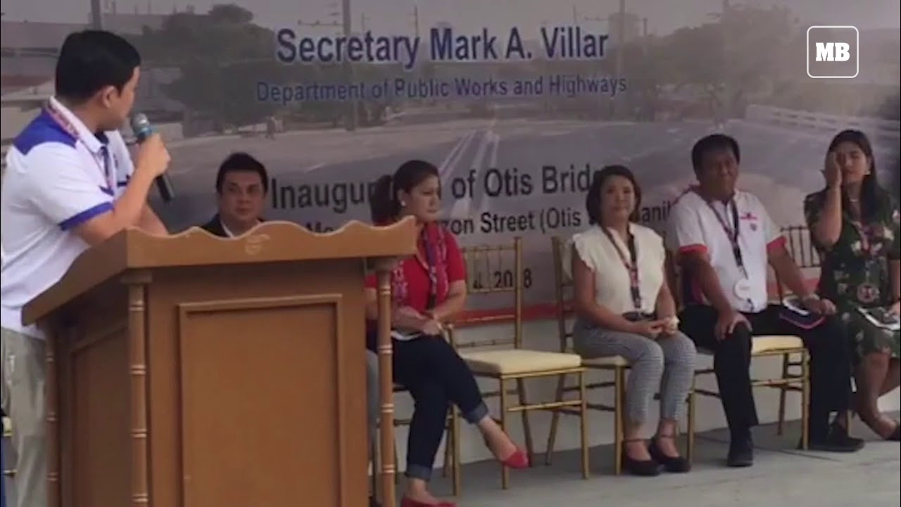 DPWH Secretary Mark Villar leads the re-opening of Otis Bridge in Manila