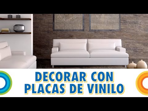 Decorar paredes con placas de vinilo bricocrack youtube - Losetas para pared ...