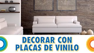 Gambar cover Decorar paredes con placas de vinilo (Bricocrack)