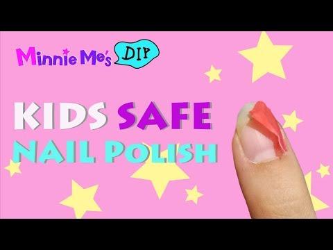 SAFE Kids Nail Polish / Manicure  - DIY PEEL OFF NAIL POLISH