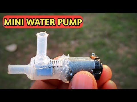 How To Make Water Pump   Mini Water Pump