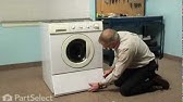 Kenmore model 417 front loading washer repair - YouTube on