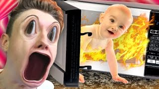 Evil Baby BREAKS EVERYTHING!