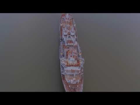 Fort Huger James River Naval Reserve Ships Anchored out 4k