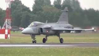 Swedish Air Force Saab Gripen Solo Display @ RIAT 13-07-2014
