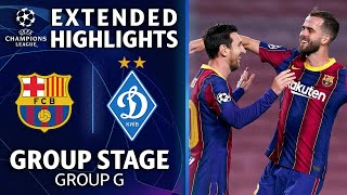 Barcelona vs. Dynamo Kiev: Extended Highlights | Group Stage - Group E | UCL on CBS
