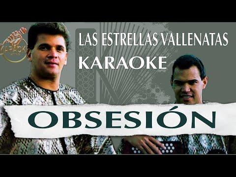 Obsesión _ Las estrellas vallenatas (KARAOKE VALLENATO). Tono original.