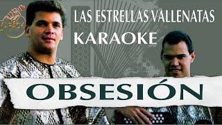 Obsesión _ Las estrellas vallenatas (KARAOKE VALLENATO)