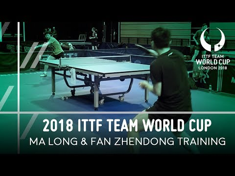 2018 ITTF Team World Cup   Ma Long & Fan Zhendong Training