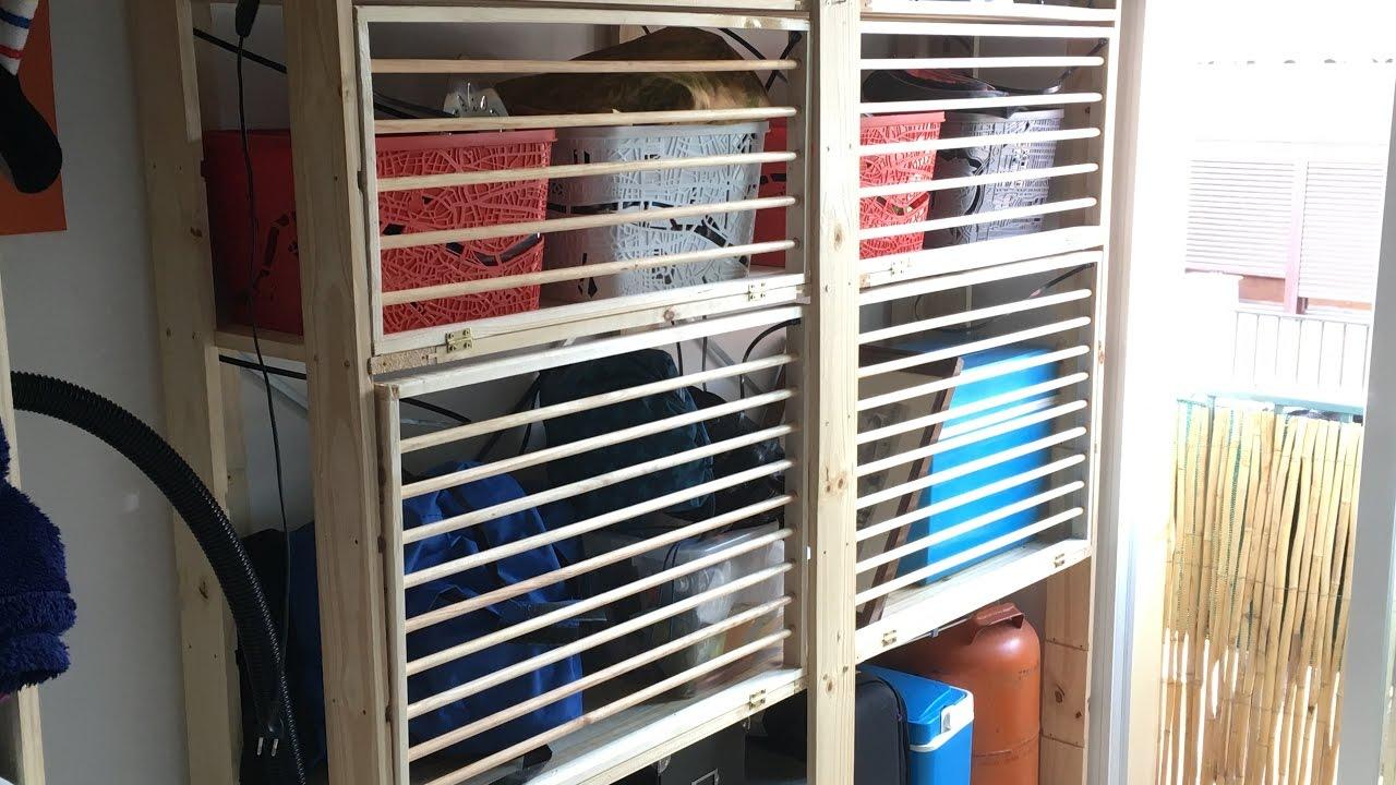 Tendedero de interior adaptado. Indoor clothesline. - YouTube