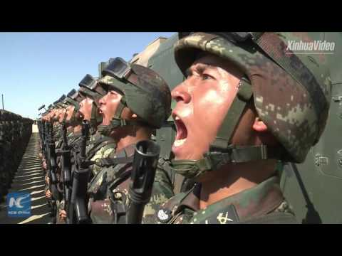 Xi Jinping inspects troops at Zhurihe training base in N China